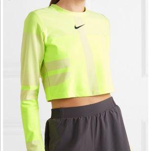 Nike Tech Pack 2.0 Run Neon Yellow Crop Top